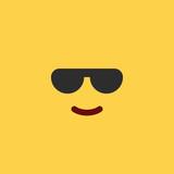 Emoji Tile Cool Sunglasses - 164515758