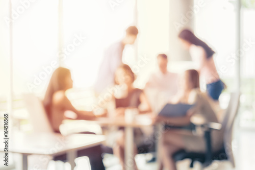 Blurred business people in press conference breaking breaking time business concept backgrond - 164516565