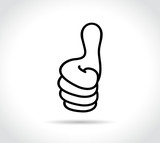 thumbs icon on white background - 164517115