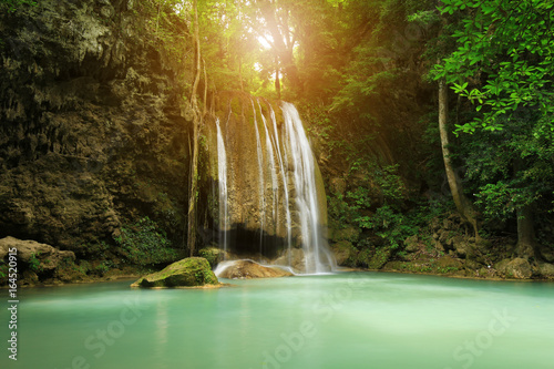 Level 3 of Erawan Waterfall in Kanchanaburi, Thailand - 164520915