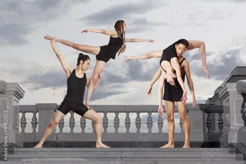 Pair of dancing contemporary dance