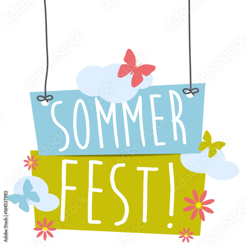 Sommerfest! Button, Icon - 164537983