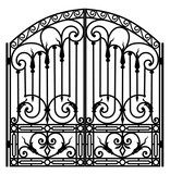 Forged iron gate - 164541341