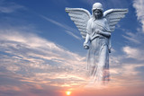 Angel in heaven over beautiful sunset - 164543796
