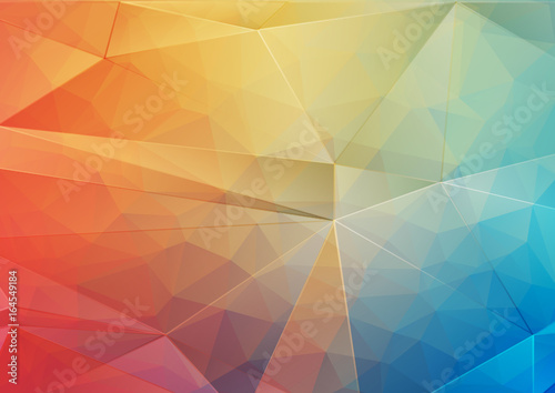 Foto op Aluminium Geometrische Achtergrond Abstract background with gradient triangle shapes
