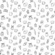baking tools seamless pattern background set - 164550365