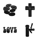 religion, product and other web icon in black style.hippies, alcohol icons in set collection.