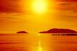 Scenic sea sunset. Seascape nature background.