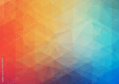 Foto op Aluminium Geometrische Achtergrond multicolored Abstract background with gradient triangle shapes