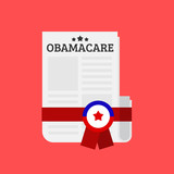 Obamacare bill vector illustration