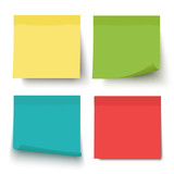 Multicolor notes isolated on white background. Post it. Colored sticky note set. Vector realistic illustration. Sticky note collection with curled corners and shadows. - 164561743