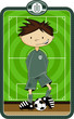 Cartoon Soccer Football Goalkeeper - 164561944