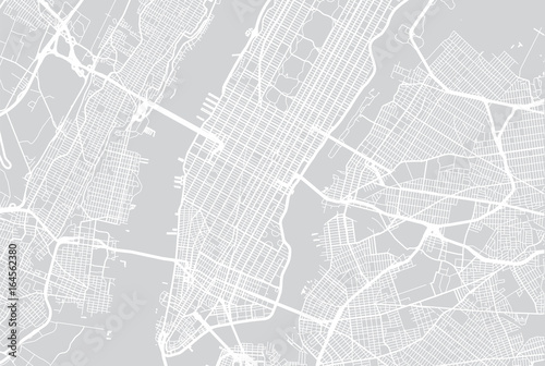 Vector city map of New York  - 164562380