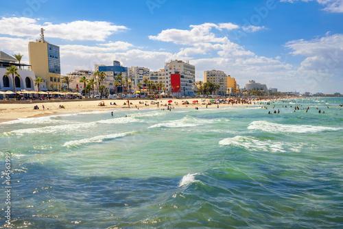 Fototapeta Urban beach in Sousse. Tunisia, North Africa