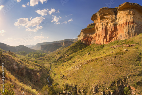 Golden sunlight over the Golden Gate Highlands NP, South Africa