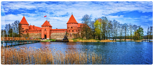 Island castle in Trakai, one of the most popular touristic attraction in Lithuania