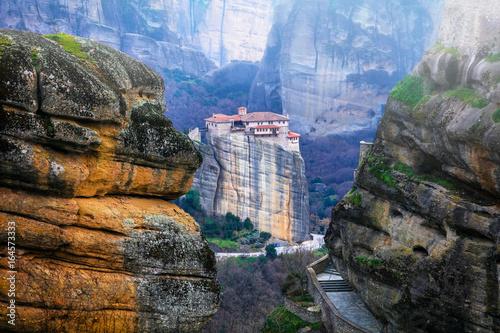 Landmarks of Greece - unique Meteora with hanging monasteries over rocks