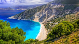 One of the most beautiful beaches of Greece- Myrtos bay in Kefalonia, Ionian islands - 164573726