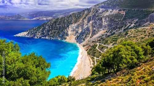 One of the most beautiful beaches of Greece- Myrtos bay in Kefalonia, Ionian islands