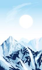 Vertical mountain background © Nikolay Zaburdaev