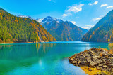 View of Long Lake at autumn day time. - 164577700