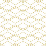 Seamless geometric vector pattern with chevron lines in gold