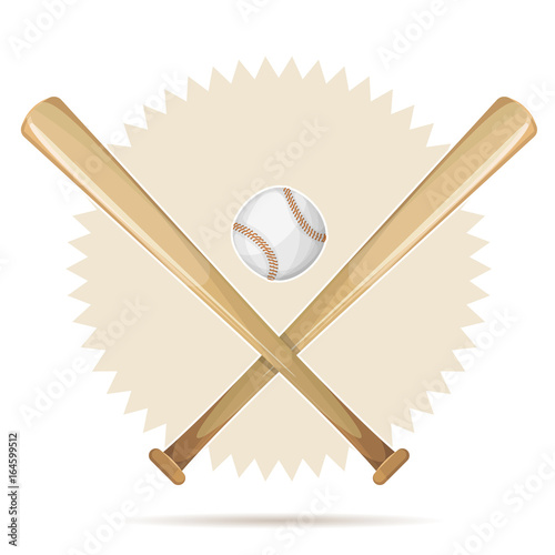 Baseball Retro Banner With Bats And Ball
