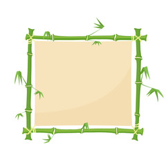 green bamboo border. square bamboo frame © dzm1try