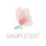 Logo. Butterfly. Flower. Ethereal and delicate. Vector Illustration