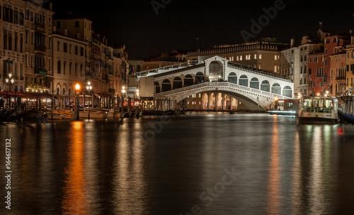 Spoed canvasdoek 2cm dik Venetie Ponte di Rialto by night