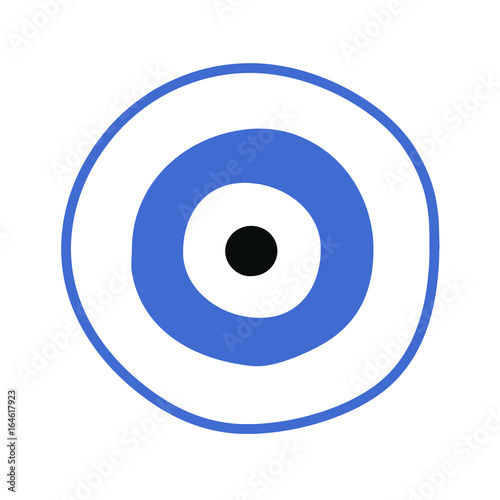 Blue Greek Evil Eye Vector Symbol Of Protection Buy Photos Ap