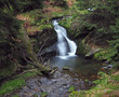 forest waterfall in jeseniky mountain on bila opava river - 164618175