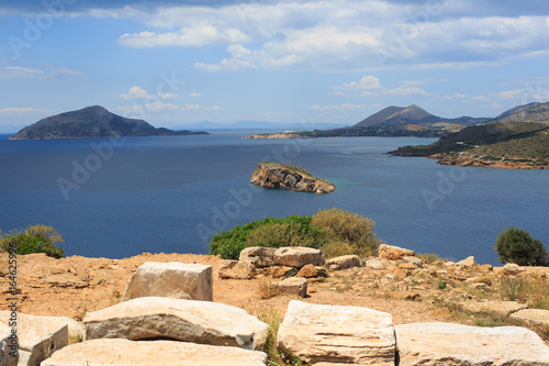 The views from Cape Sounion on the Aegean sea