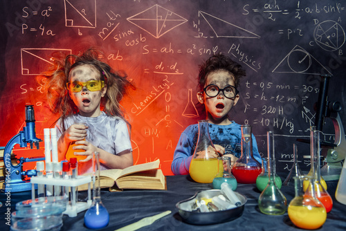 small scientists in a lab
