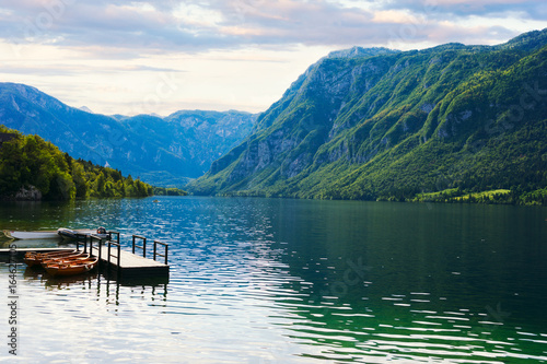 Beautiful Bohinj lake. Slovenia