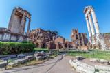 Temple of Vespasian columns located in the Roman Forum - 164637334