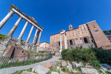 Columns from Antoninus and Faustina Temple, located in Roman Forum - 164637372