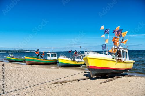 fishing boat at the Baltic beach