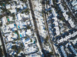 Aerial drone shot of Santiago de Chile at winter. Snowy cityscape of the city - 164641380