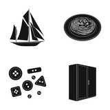 tourism, recreation, atelier and other web icon in black style., tree, handle, travel, icons in set collection.