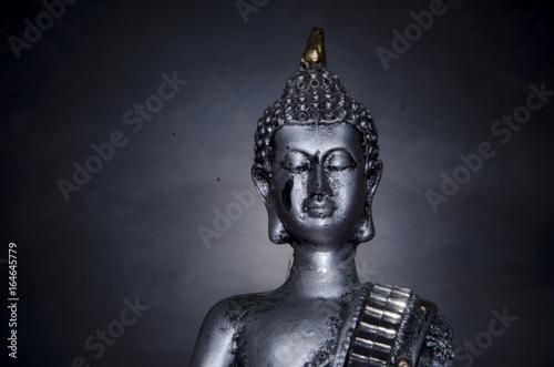 Buda con fondo oscuro Poster