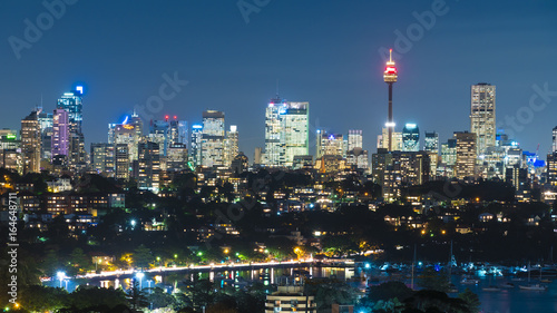 Skyline of Sydney CBD at night