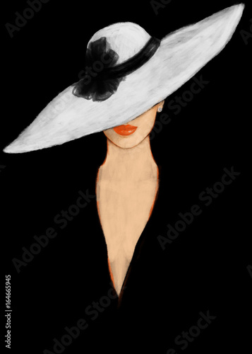 Elegant lady. Fashion illustration