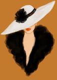 Elegant lady. Fashion illustration - 164666162