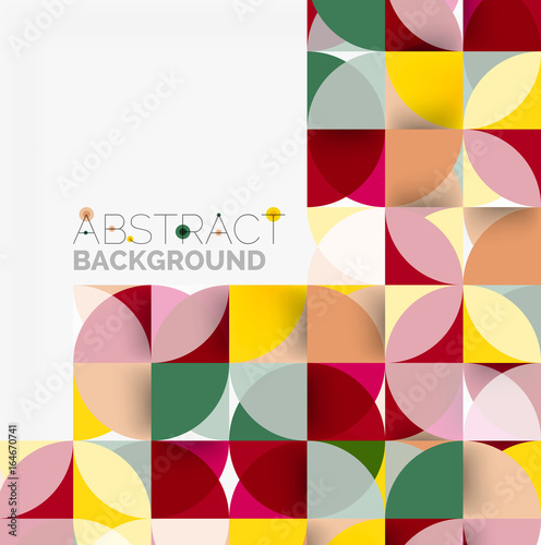Modern geometrical abstract background circles © antishock