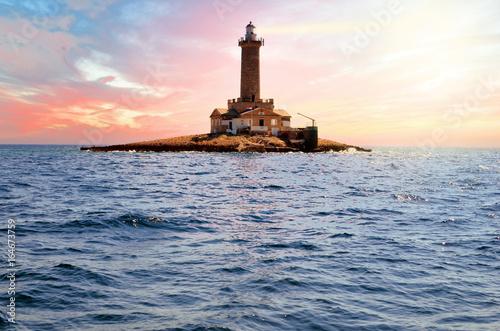 Staande foto Beige phare entre Split et Pula