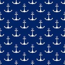 Seamless Travel Pattern   Anchor  Sea Tourism Concept   Illustration Sticker