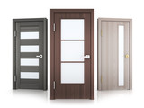Three doors row - 164694314