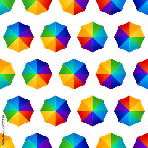 obraz lub plakat seamless multicolored umbrellas