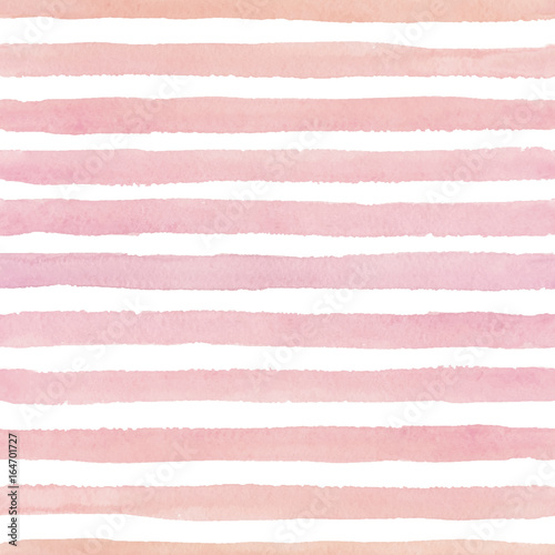 Cotton fabric Hand painted seamless watercolor pattern with horizontal strokes on the white background